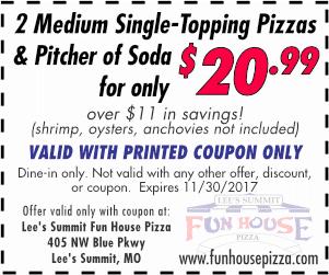 Fun house pizza lees summit mo